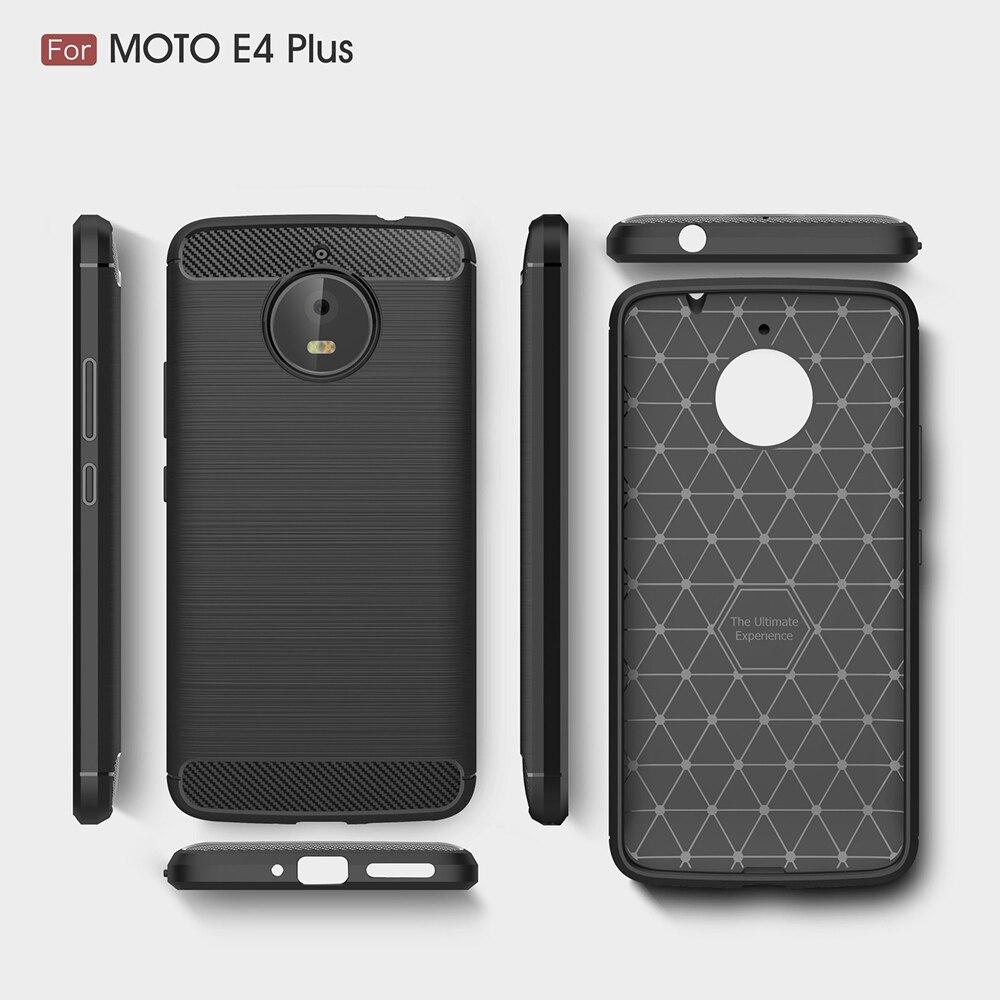 carbon fiber grid case for moto e4 plus case fashion slim light soft tpu protection phone case. Black Bedroom Furniture Sets. Home Design Ideas