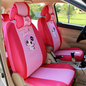 Image 1 - 12pcs Cartoon Car Seat Cover Universal Sandwish Auto Seats Protector Breathable Automobil Interior Cushion Accessories for Girls