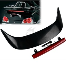 Motorcycle Rear Trunk Spoiler with LED light For Honda GL1800 GOLDWING 2001-2011 Smoke/Red Lens have 2 color