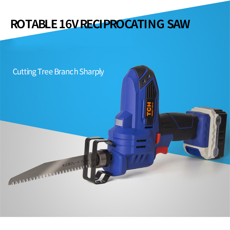 TCH Electric 16V Portable Charging Reciprocating Saw Electric Saber Saw for wood mutifunctional power tools 10pcs jig saw blades reciprocating saw multi cutting for wood metal reciprocating saw power tools accessories rct