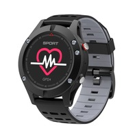 NO 1 F5 Smart Watch Android IOS Compatible Heart Rate Monitor GPS Altimeter Temperature Measure Multiple
