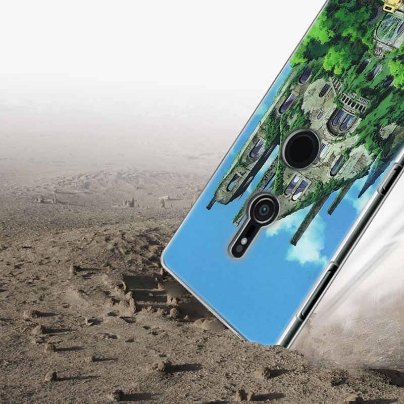 Transparente Caso de Telefone Silicone Macio pug totoro meu vizinho para Sony Xperia M5 E5 Z5 XA1 XA2 XZ1 XZ2 Compacto