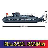 Model building kit compatible with lego military submarine U boat 3D blocks Educational model building toys hobbies for children