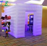 Zwei türen/2-türen custom hochzeit party aufblasbare photobooth led photo booth zelt