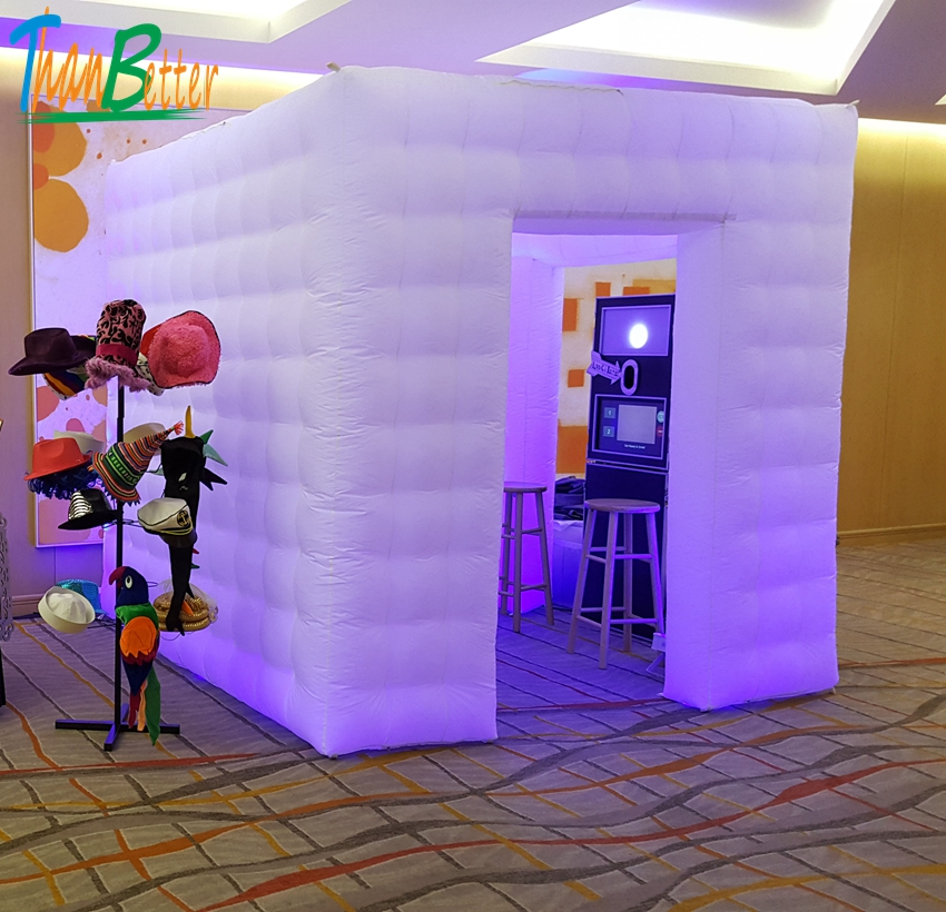 two doors / 2-doors custom wedding party inflatable photobooth led photo booth tenttwo doors / 2-doors custom wedding party inflatable photobooth led photo booth tent