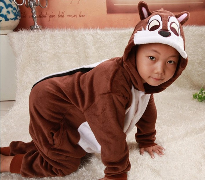 Lovely Onesies Adults Kids Unisex Children Chipmunk Pyjamas Pijamas Anime Cosplay Costume Sleepwear Carnival Costumes For Party