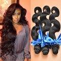 Бразильский волна 3 шт. лучшие наращивание волос бразильский мелирование волос пучки 7а человеческих волос соткет бразильские волосы девственницы волна