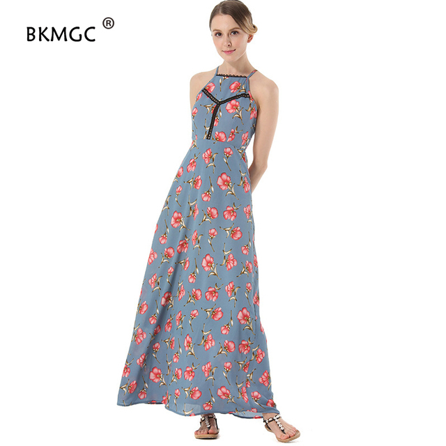 Frauen Kleid Bandage Schulter Blumenmuster Blumendruck Baumwolle ...