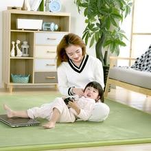 Baby Play Mat Coral Velvet Antiskid Design Crawling Mat kids rug Children Game Pad Super Soft Comfortable Playmat floor mat