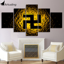 5 piece canvas painting Buddhist symbol svastika posters and prints canvas painting for living room free shipping XA2172B $17 5 x5pcslot total usd 87 5 shielding bag replacement battery for motorola symbol 4278 ls4278 free shipping compatible symbol