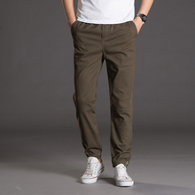 Men's 100%Cotton Casual Pants Good Quality Solid Spliced Cargo Pants New Fashion Male Full Length Trousers Size 4XL