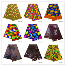 6 yard Ankara African Polyester Wax Prints Fabric Classic wax printing High Quality for Party Dress 1307-134