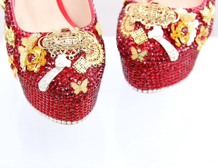 Cm Diamant 12 Talons Pompes Robe 14cm Fleurs Mariée Stiletto Haute Gland De 14 Femmes Mariage Perle 12cm Nouveau Chaussures Rouge tFaqwW