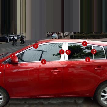 Chrom Automovil Körper Fenster Hinten Wischer Außen Schneidigen Abdeckungen Leisten Trim 14 15 16 17 18 19 FÜR Toyota Yaris fließheck
