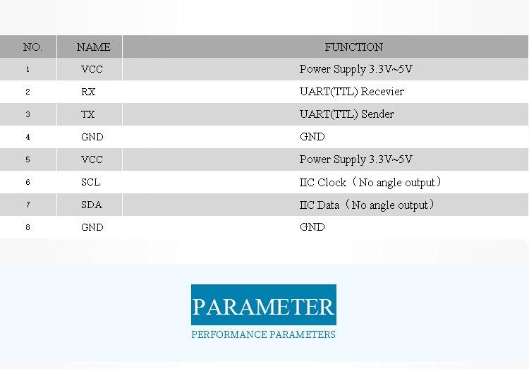 Neigungsmesser Magnetfeld-Ausgang Unterstützung für Multi-Connected WitMotion WT901WIFI Drahtloser 3-Achsen-Beschleuniger Gyrowinkel