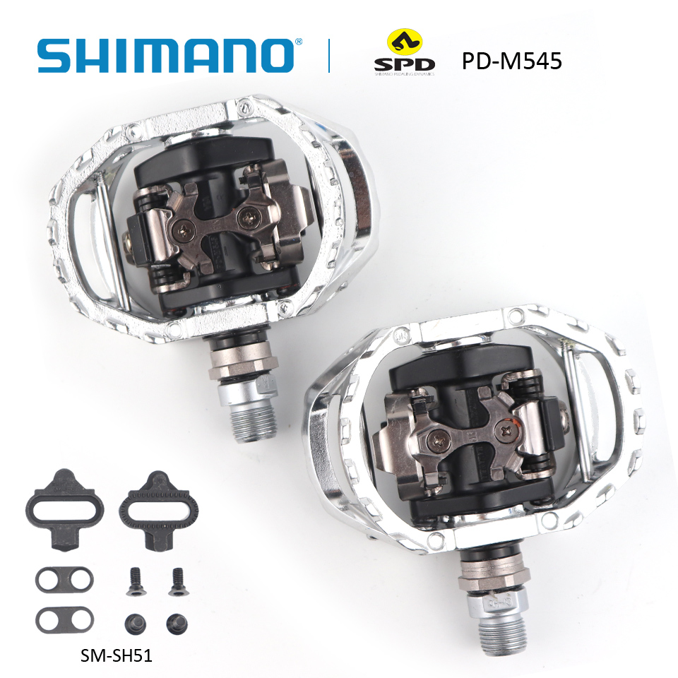 SHIMANO PD-M545 SPD bicycle cycling Pedal MTB Mountain XC Clipless Bike Incl SM-SH51 Cleats Mountain bike pedals shimano pd m545 spd bicycle cycling pedal mtb mountain xc clipless bike incl sm sh51 cleats mountain bike pedals