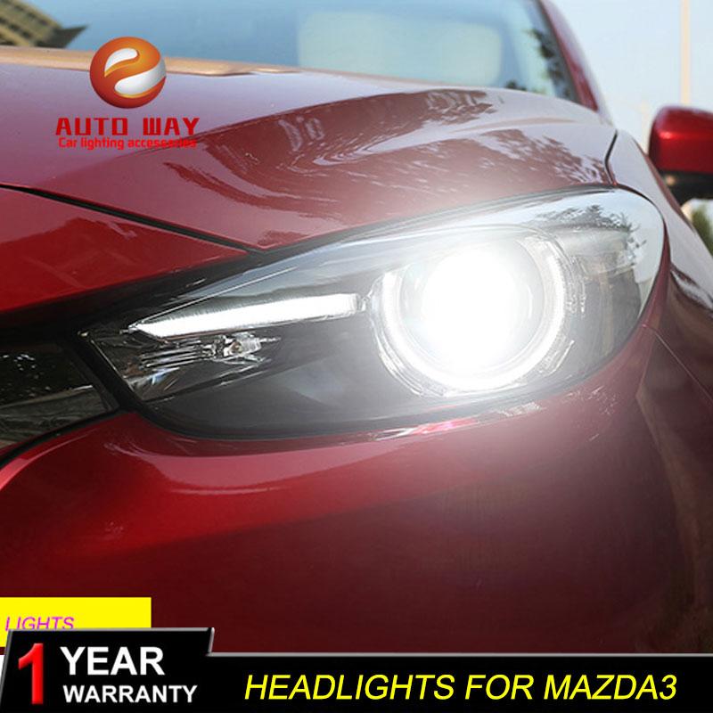 Գլխի լամպի պահոց Mazda 3 M3 Axela Mazda3 2017 2018 - Ավտոմեքենայի լույսեր - Լուսանկար 6