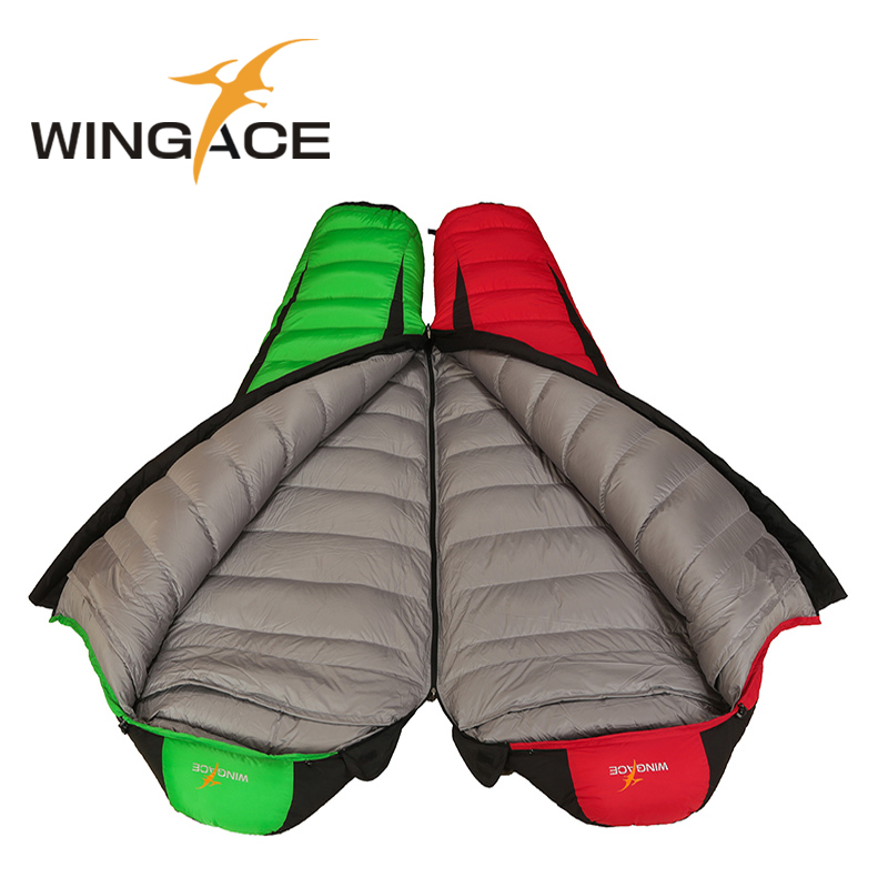 WINGACE Fill 2000G 3000G 4000G Goose Down Adult Winter Sleeping Bag Travel Mummy Outdoor Camping Sleeping Bag For Tourism in Sleeping Bags from Sports Entertainment