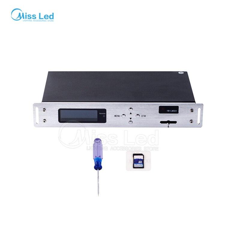 YM LM501 WS2812 led on line Controller ws2812B/WS2811 SD карты Ethernet соединения Светодиодный контроллер 4 портов вывода AC220V