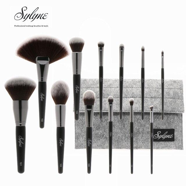 Sylyne 12 piezas Juego de brochas de maquillaje de alta calidad cara y ojo suave clásico mezcla de brochas de maquillaje profesional kit de herramientas.