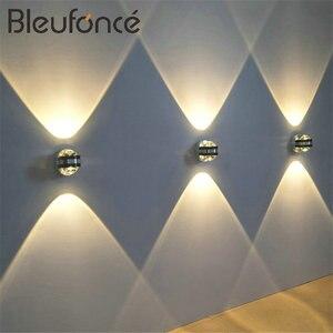 Image 2 - 6 واط LED الألومنيوم مصباح جداري LED إضاءة داخلية تركيب المصابيح الجدار مصباح ل السرير غرفة المعيشة غرفة نوم الجدار مصابيح BL6003
