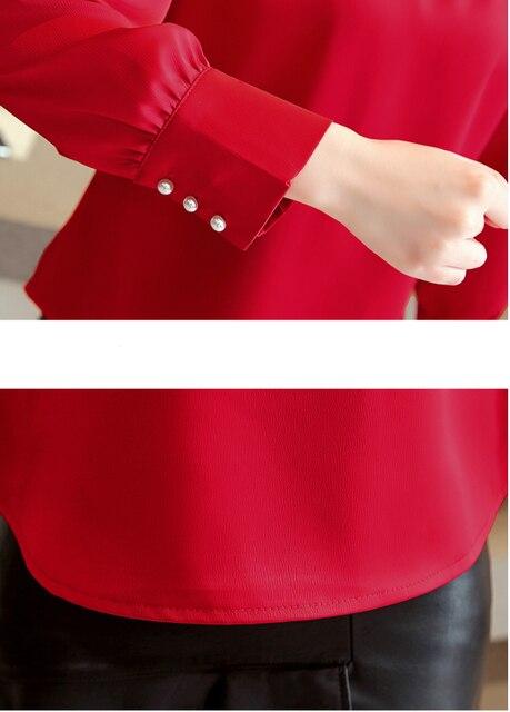 blusas mujer de moda 2018 long sleeve women shirts womens tops and blouses chiffon blouse shirt feminina plus size tops 1418 45 5