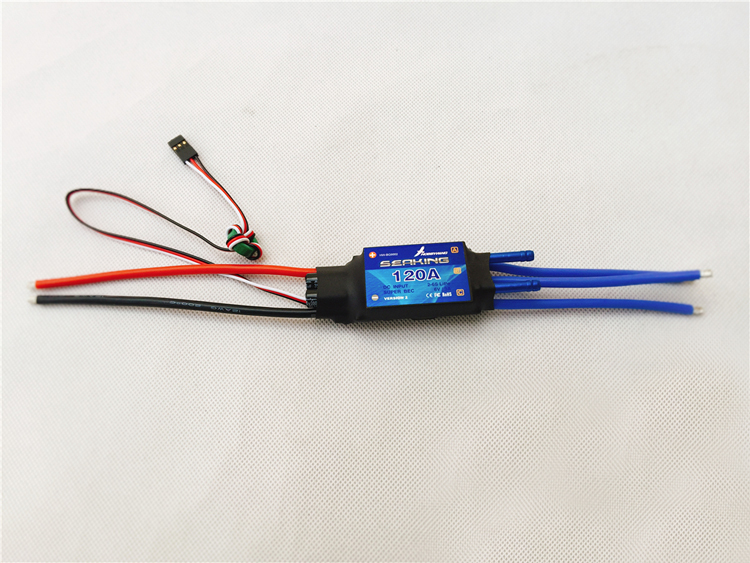 1pc Hobbywing Seaking Series 120A Large Current ESC V2 RC Boat Brushless Electrical Speed Controllers For DIY Model Ship