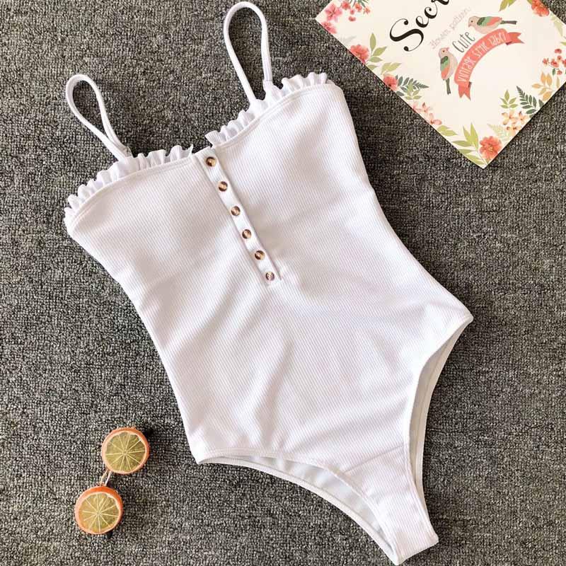 2019 Woman Brazilian Push up Bathing Suit Tankini Hollow Out Monokini Swimwear Female Bandage One Piece Swimsuit 3835
