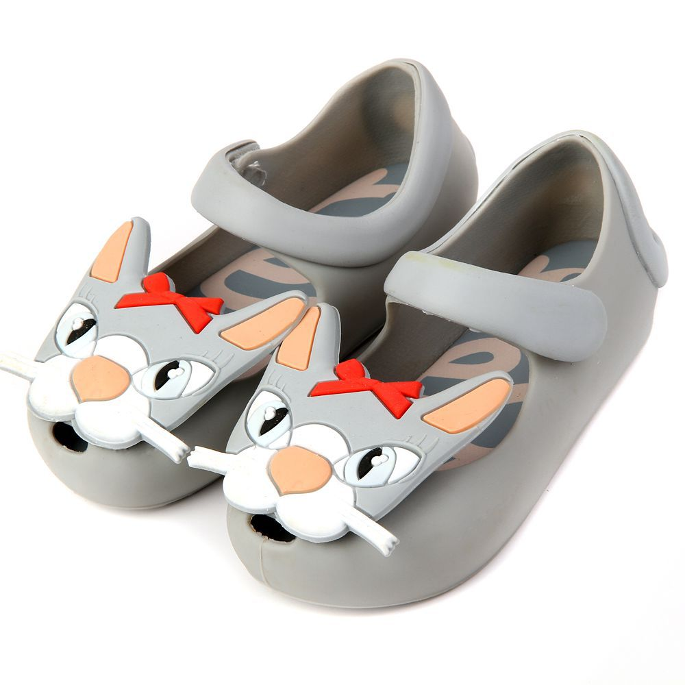 girls and girls causal sandals with Strange cat face PVC soft leather shoes for kids flat heels autumn and spring