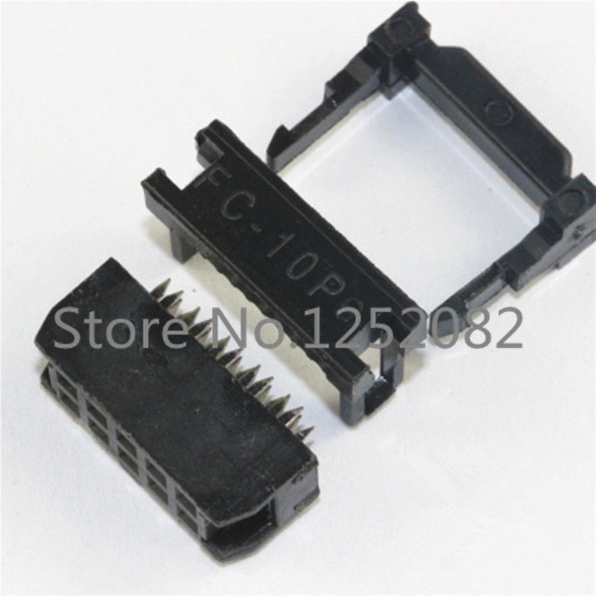 ФОТО 1000PCS IDC Socket FC-10P 2.54mm IDC connector 10-pin cable socket 10P 2X5P IDC