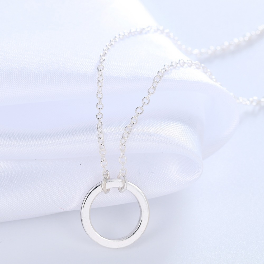 Qiming fashion tiny gold silver plated love open circle necklaces qiming fashion tiny gold silver plated love open circle necklaces love circle charm round necklace for women pendant jewelry in pendant necklaces from aloadofball Images