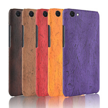 For Vivo Y71 Case Hard PC+PU Leather Retro wood grain Phone Case For Vivo Y 71 Cover Luxury Wood Case for VIVO Y71 5.99'' купить недорого в Москве