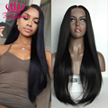 Fairy hair lace front wig glueless black silky straight heat resistant synthetic lace front wig for black women synthetic wig