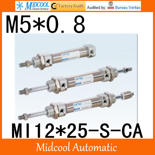 MI Series ISO6432 Stainless Steel Mini Cylinder  MI12*25-S-CA  bore 12mm port M5*0.8 купить в екатеринбурге переходник mini iso