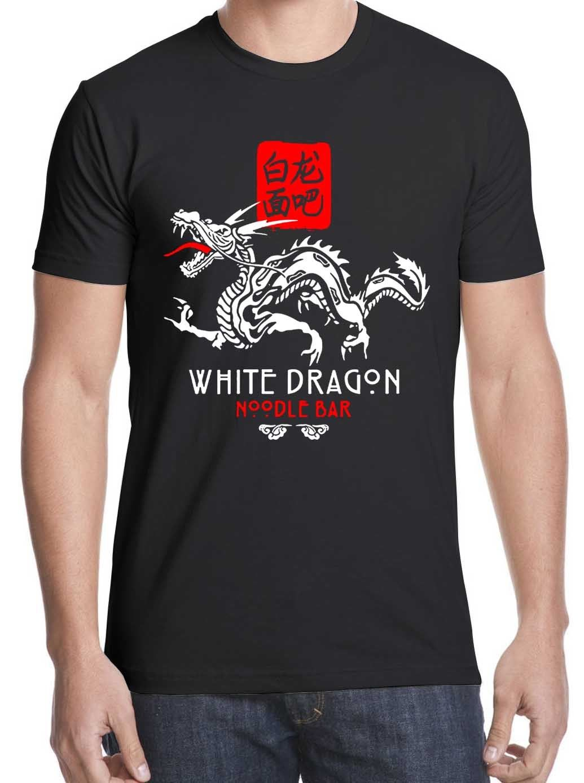 WHITE DRAGON NOODLE BAR MENS T SHIRT TEE TYRELL ORIGAMI UNICORN