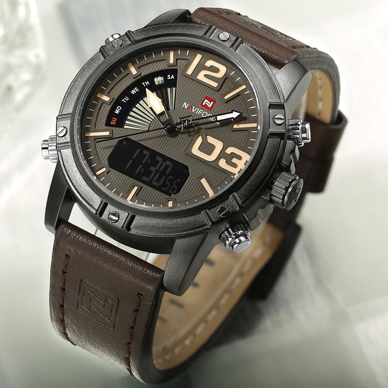 NAVIFORCE Fashion Sports Watches Men Military Chronograph Quartz Analog Watch Waterproof Back Light Wristwatch Relogio Masculino
