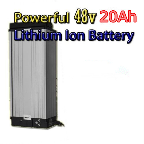 high powerful 48v 1500w Electric bike battery 48v 20ah with charger