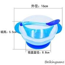 Для детей, есть посуду миска с присоской температура индукции ложка детские столовые приборы детское питание детская чаша
