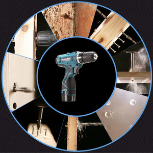 Image 5 - Lomvum furadeira elétrica à prova dwaterproof água parafusadeira elétrica recarregável multifunções ferramentas elétricas mini furadeira sem fio