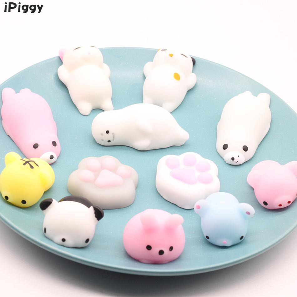 Soft Slow Rising Healing Toy Funny Kids Stress Reliever Toys Xmas Gifts1pcs Cute Mochi Animal Lazy Cat Squishy Squeeze