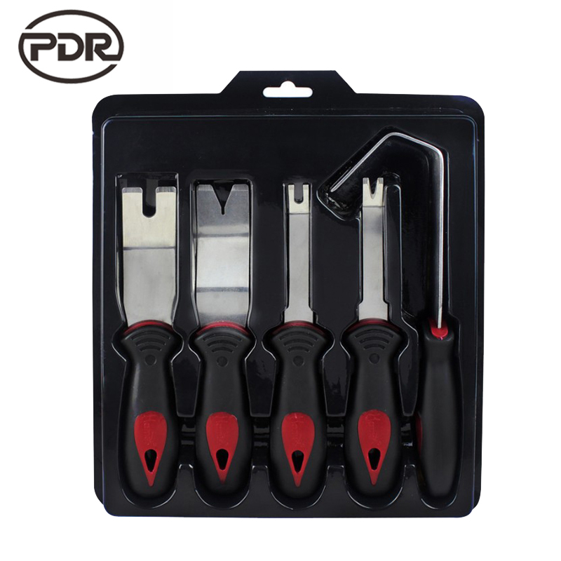 PDR Tools Pry Tool Set Auto Panel Door Trim Upholstery Clip Remover With Original Box Stainless Steel Car Modification 5 PCS