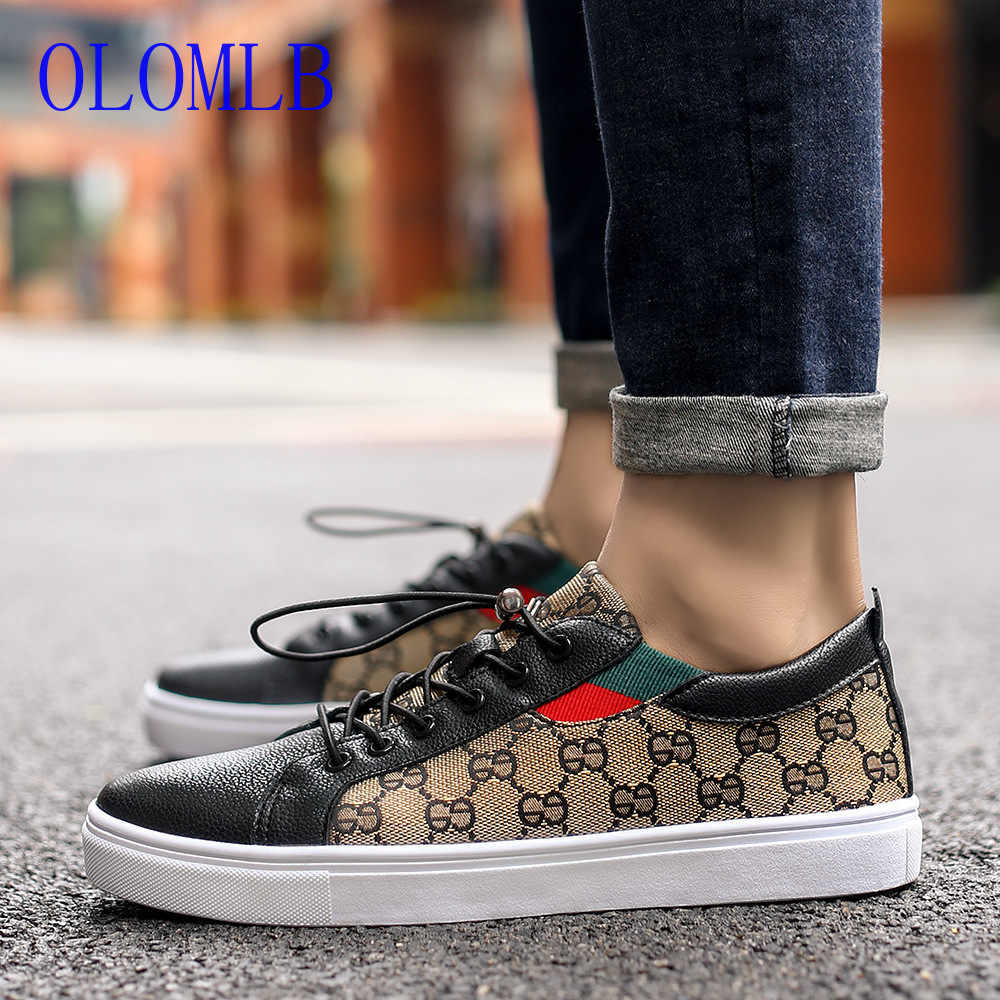 OLOMLB Men Vulcanize Shoes Fashion Classic Casual Shoes Men Comfortable Flats Male Lightweight Breathable Couple Shoes Size36~44