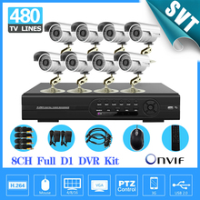 8ch CCTV video surveillance system d1 dvr recorder Outdoor waterproof Camera kit for home security,HDMI 1080P SK-118