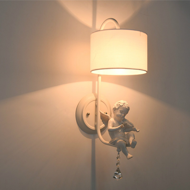 Little Angel Bedroom Bedside Indoor Wall Light Fixture European Wall Lights For Children Bedroom скатерть angel ya children tsye zb266 88