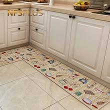 Длинные кухонные коврик, напольный ковер гостиная коврики для прихожей хлопок с точками из пвх противоскользящие коврик для входной двери коврик для дома на открытом воздухе