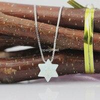 1pc Lot Free Shipping 2017 New Fashion Jewish Jewelry OP17 Snow White Star Of David