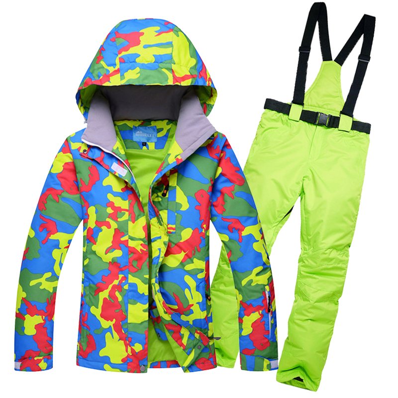Free shipping waterproof jacket womens ski suit snowboard jackets mountain ski set thermal windproof women skiing clothing set цена