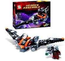 2015 New Super Heroes Guardians of the Galaxy Rocket Raccoon's Warbird Parts Building Blocks Minifigure Compatible with Legoe