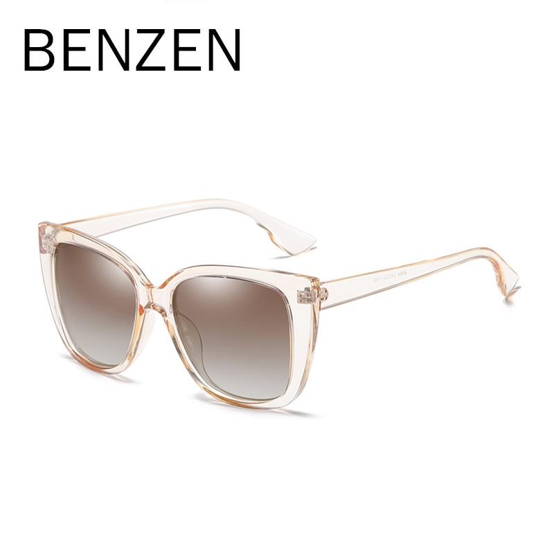 Image 4 - BENZEN Cat Eye Sunglasses Women Vintage Polarized Large Sun Glasses For Driving Retro Ladies Shades Black With Case 6601Womens Sunglasses   -