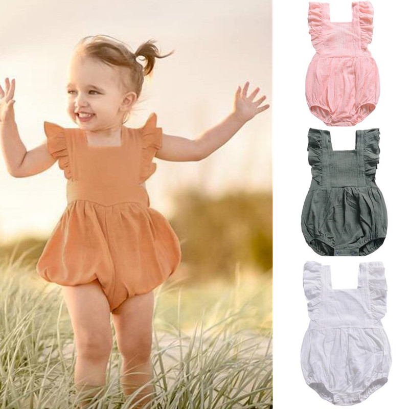 New orangemom baby girl clothes 4 colors infant girls summer   rompers   0-3 years jumpsuit baby   romper   imported costume
